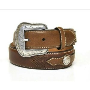 Nocona Kid's Western Leather Concho Belt 26